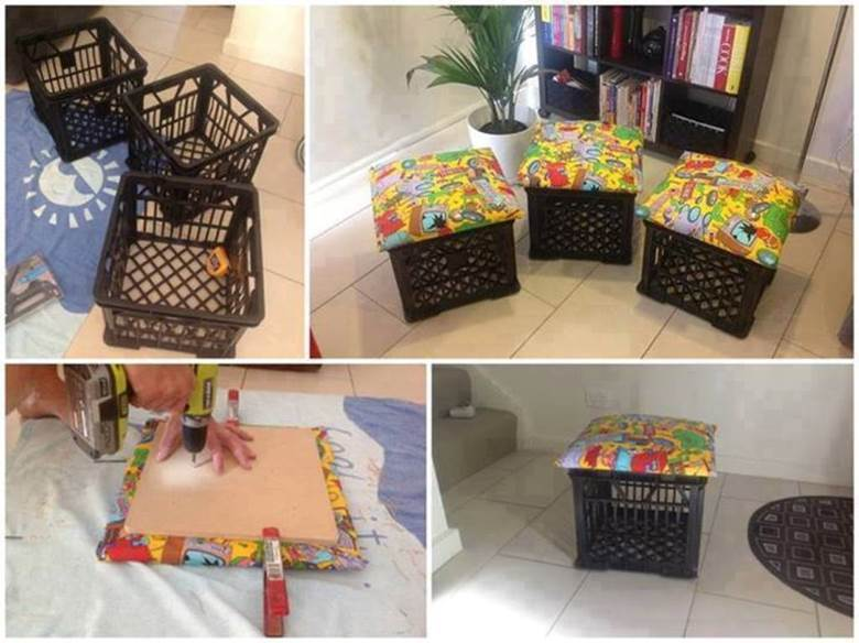 How to make DIY Storage Ottoman