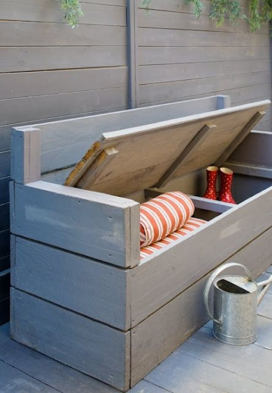 19 DIY Outdoor Bench and Storage Organization Ideas - Diy Craft Ideas ...