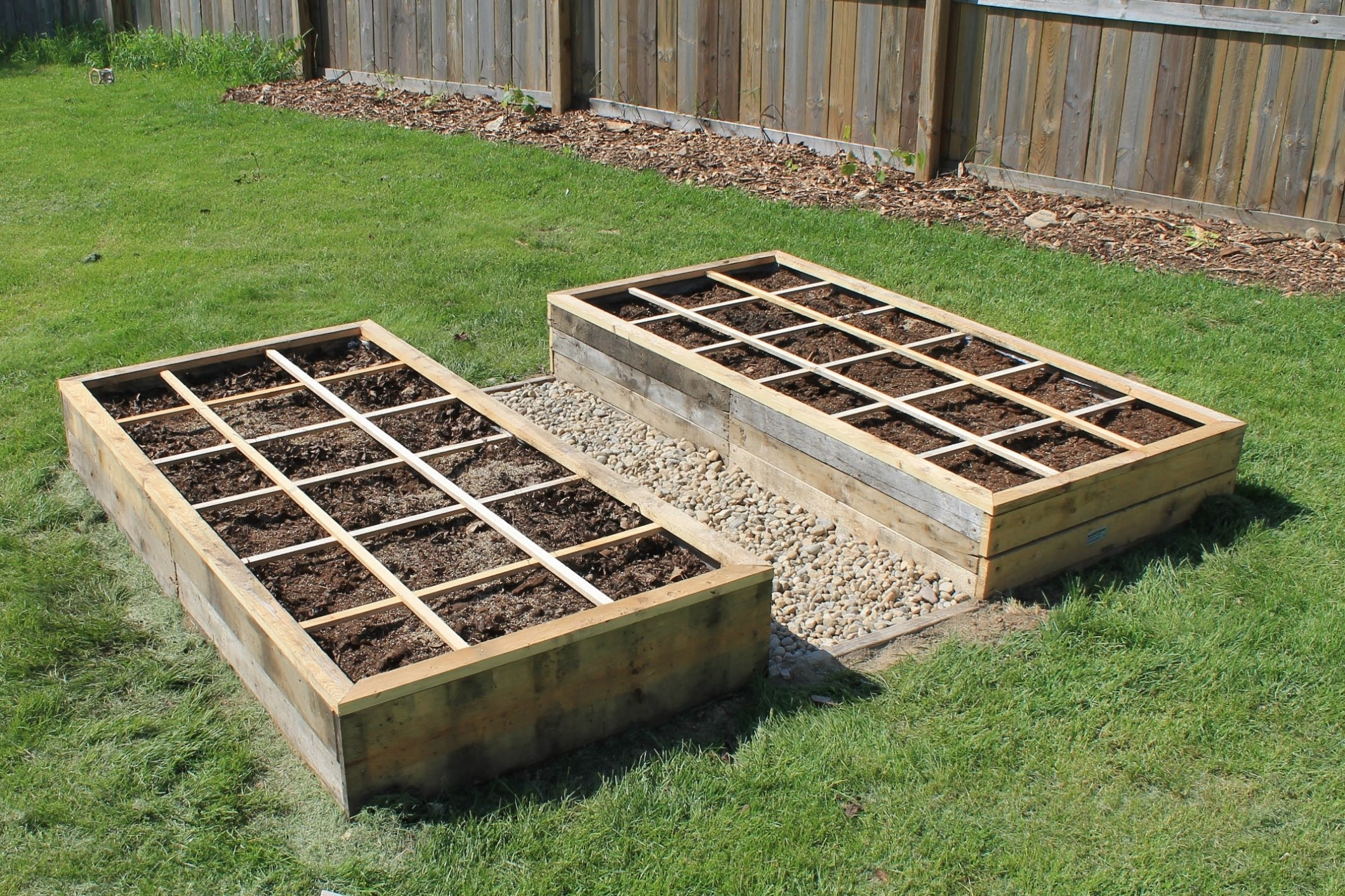 Garden boxes made from pallets