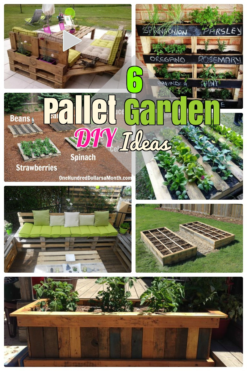 6 diy pallet garden ideas and furniture for your small for Ideas for your garden