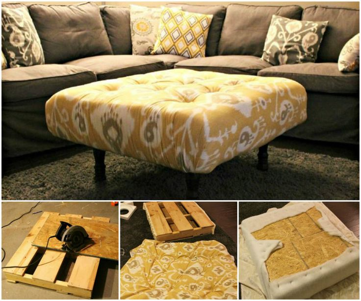 DIY Storage Ottoman Ideas from Recycle Crates and Pallets Diy