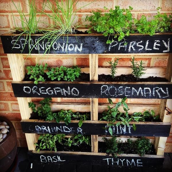 pallet garden ideas. pallet vertical garden ideas e