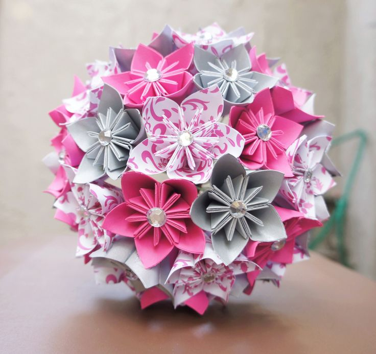 How To Make Flower Basket With Chart Paper : Step by diy papers made flower craft ideas for