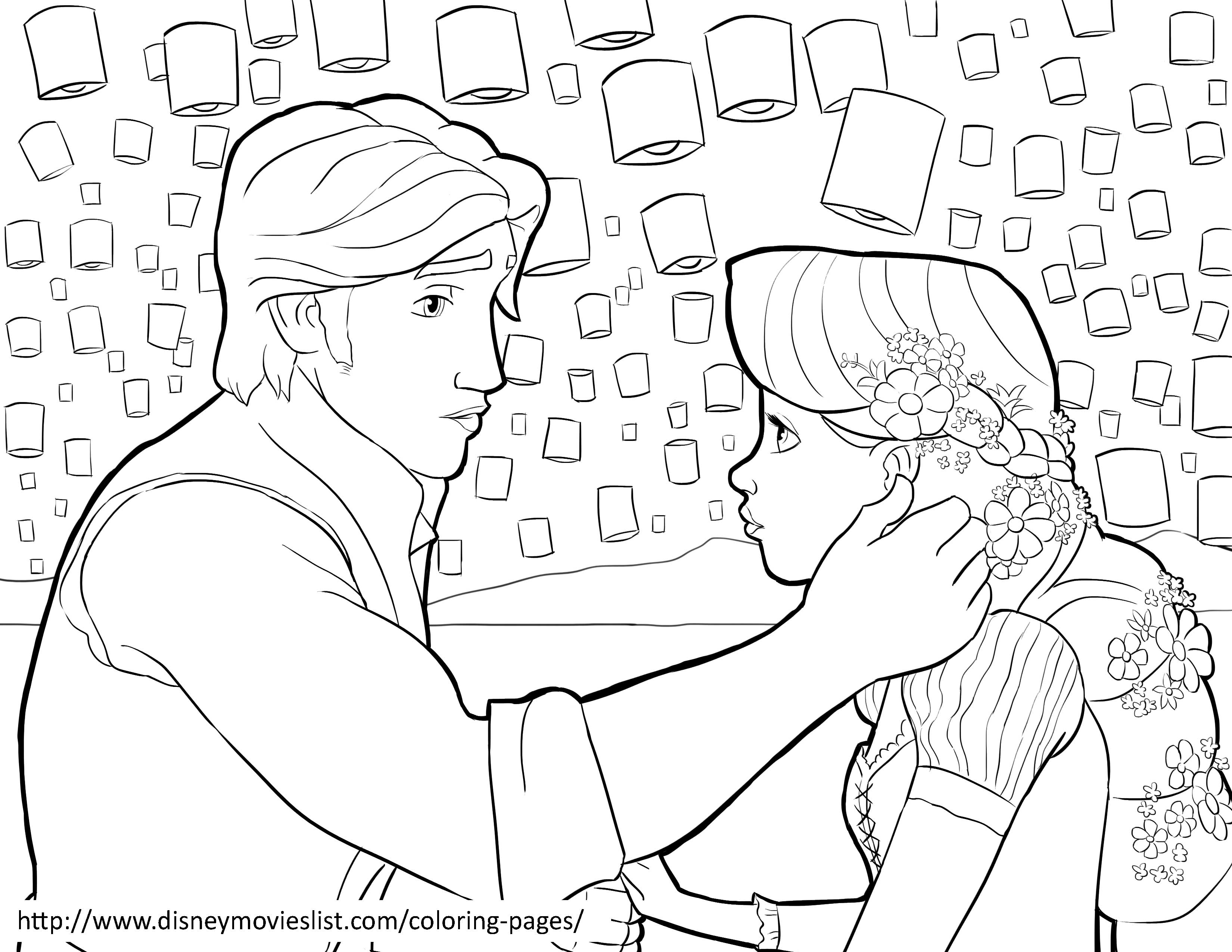 Rapunzel and Eugene coloring page  Diy Craft Ideas  Gardening