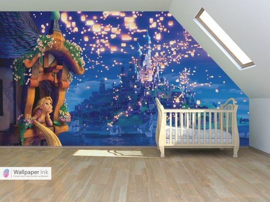 Everything tangled rapunzel eugene themed party ideas for Disney wall stencils for painting kids rooms