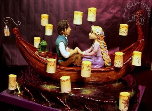 Tangled Wedding Cake Topper