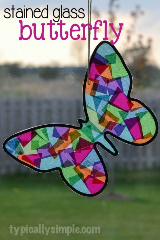 Stained Glass Paper Plate Craft