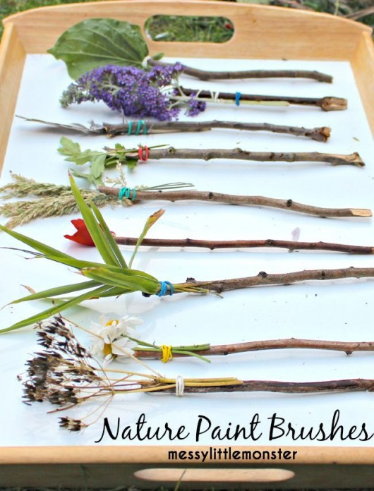 15 diy nature craft ideas for kids diy craft ideas for Painting with nature items