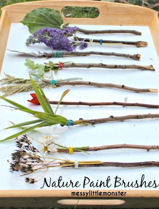 Making Natural Paint Brushes