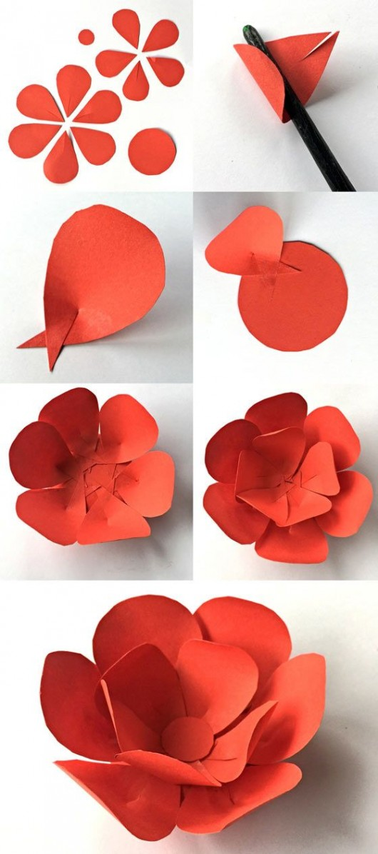 12 Step By Step DIY Papers Made Flower Craft Ideas for Kids Diy