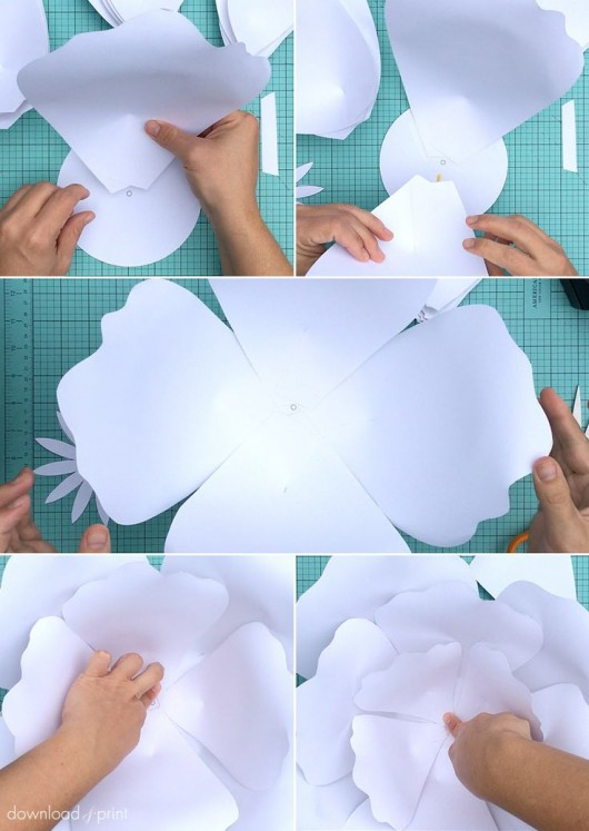 Want To Make A Giant Paper Rose Flower