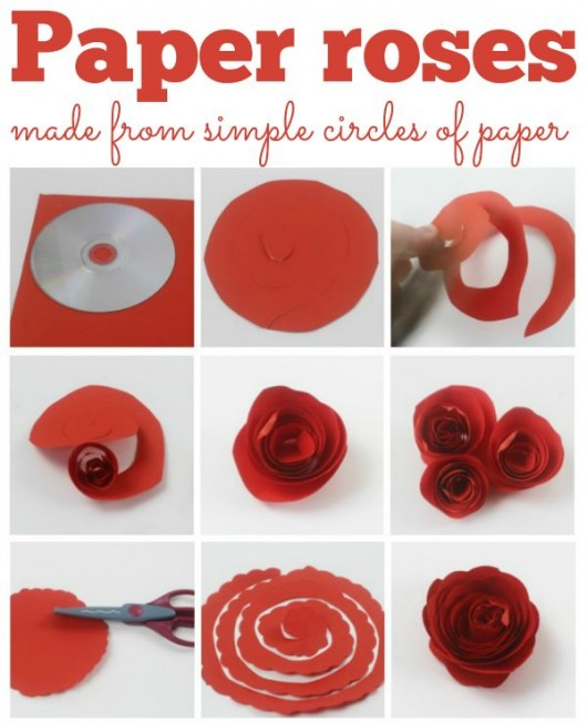 how to make roses with tissue paper