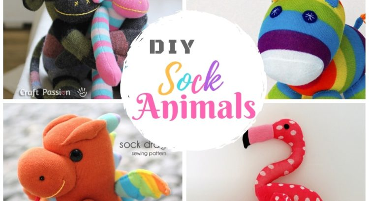 40 DIY Sock Animal Toys: Free Sewing Pattern for Plushies and Toys