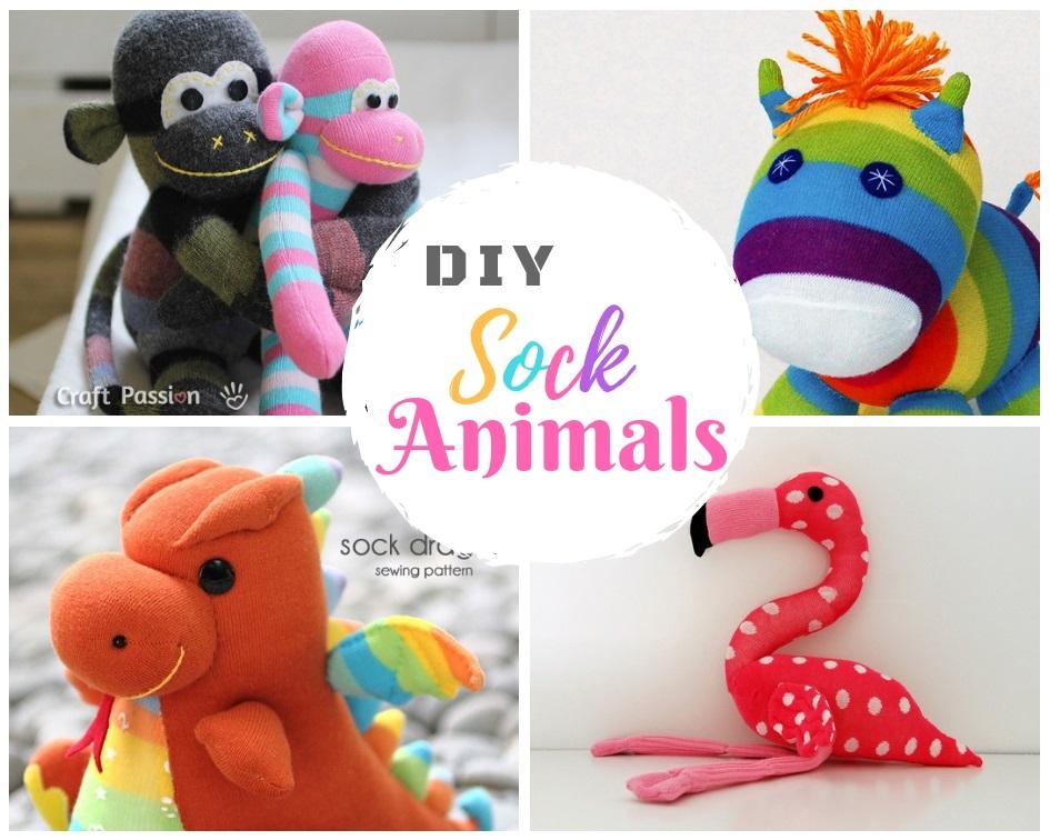40 DIY Sock Animal Toys Free Sewing Pattern For Plushies And Toys Mesmerizing Sock Animal Patterns