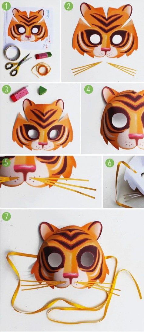 Tiger masks are one more kind that picked by both the adults and the kids for a proper Halloween makeup. Check out the simple making procedure of a flawless ...  sc 1 st  Diy Craft Ideas u0026 Gardening & 80 DIY Animal Crafts: Halloween Animal Costumes Mask and Stuffed ...