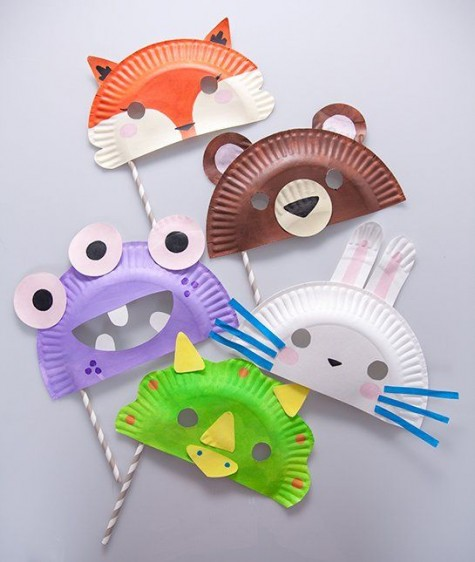 For simplest and easiest masks try out some pretty paper plate masks which are utterly effortless to make with just 2 or 3 other elements. & 80 DIY Animal Crafts: Halloween Animal Costumes Mask and Stuffed ...