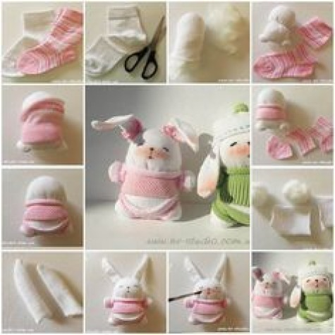 DIY-Animal-toys-sock-bunny
