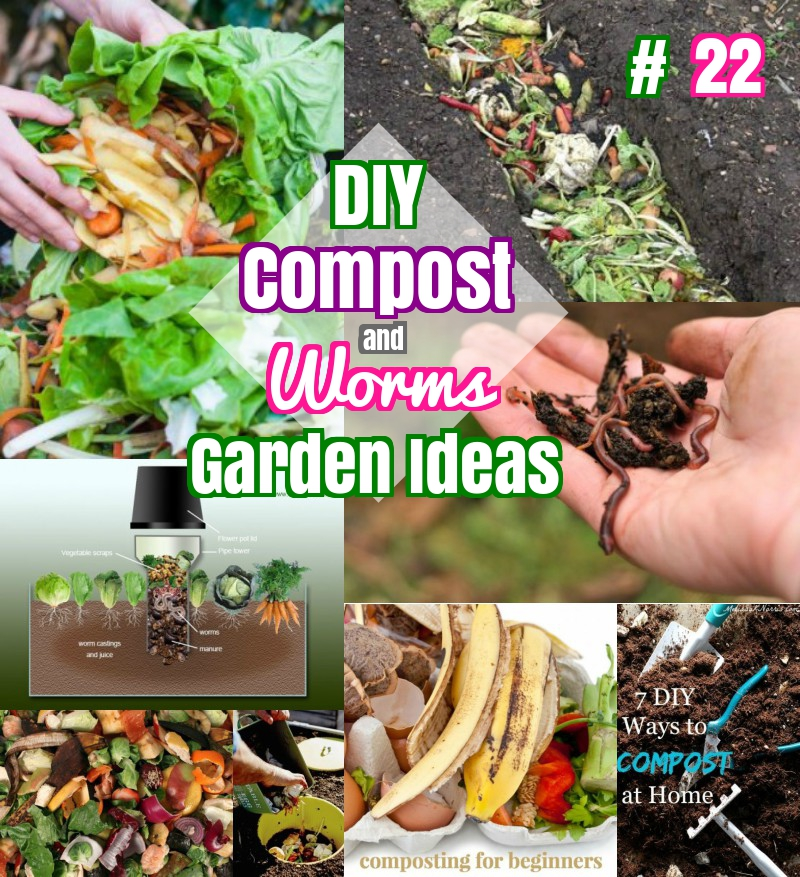DIY Compost and Worm Towers Garden Ideas