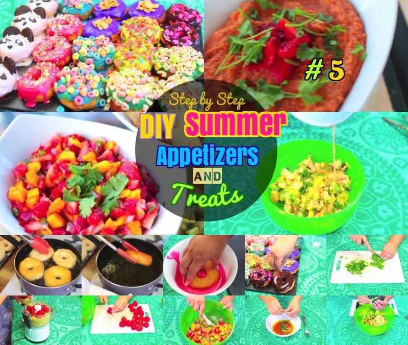 DIY Delicious Summer Appetizer treat recipes
