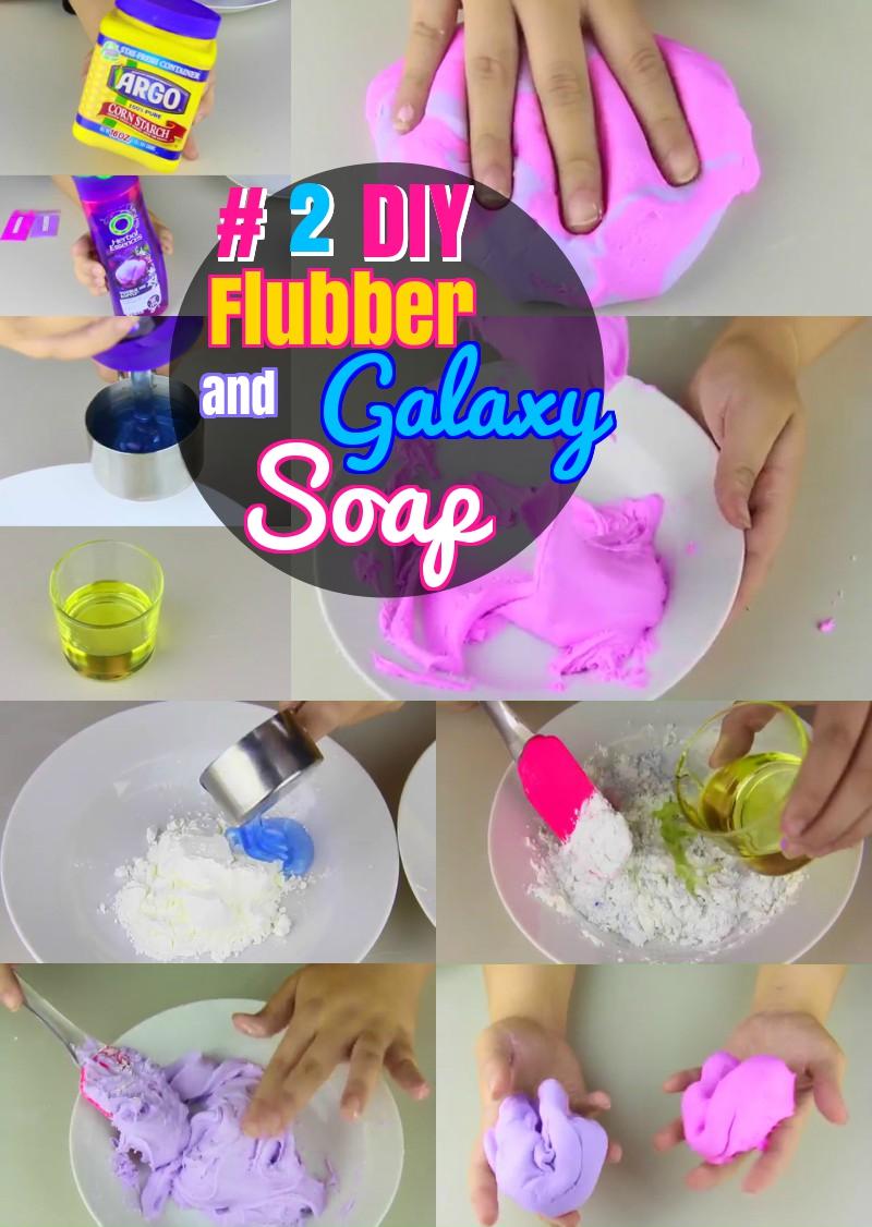 DIY Flubber Galaxy Homemade Soap
