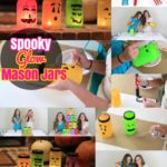 DIY Mason Jars: Spooky Halloween Mason Jar Luminaries