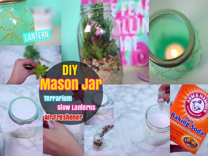 DIY How t o Make Painted Mason Jars