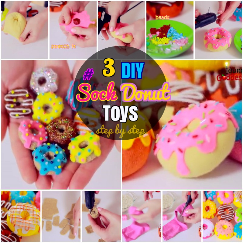 DIY How to Make Sock Donut Stress Toys