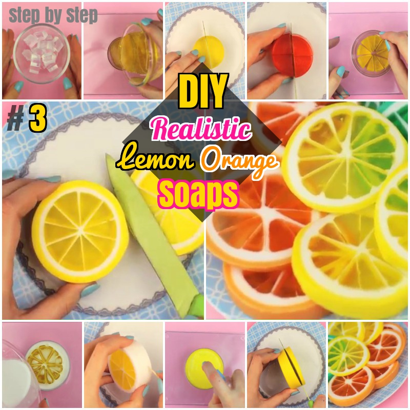 DIY How to make Lemon Orange Glycerin Soaps