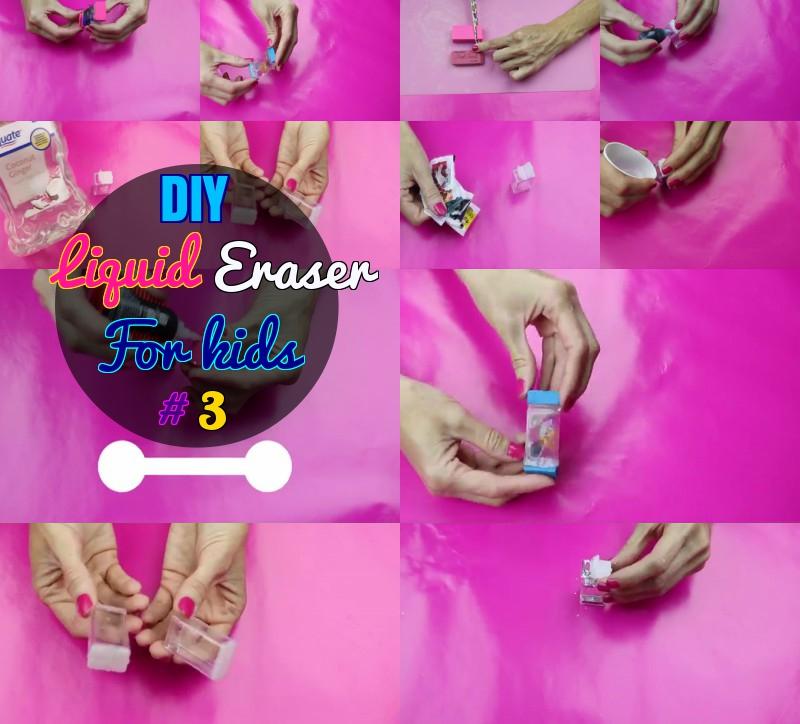 DIY How to make Liquid Eraser for kids