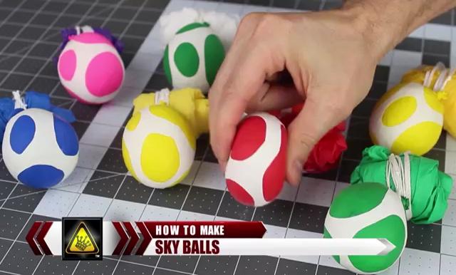 DIY How to make Parachute flying Sky balls (1)