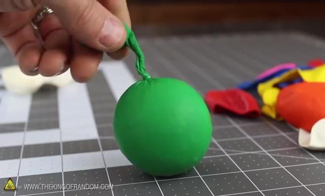 DIY How to make Parachute flying Sky balls (12)