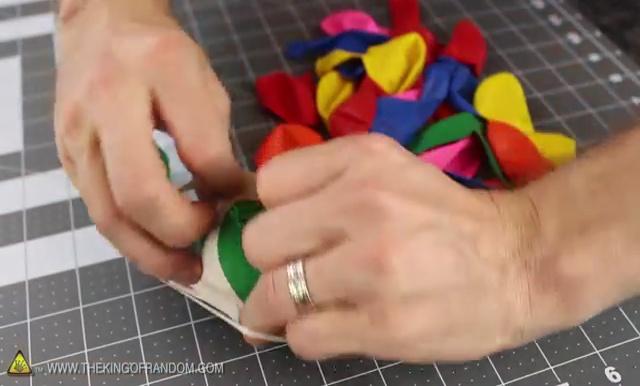 DIY How to make Parachute flying Sky balls (18)