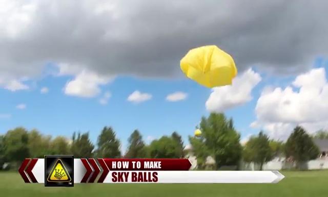 DIY How to make Parachute flying Sky balls (2)