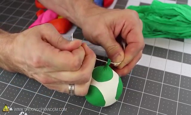 DIY How to make Parachute flying Sky balls (21)