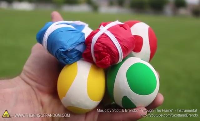 DIY How to make Parachute flying Sky balls (30)