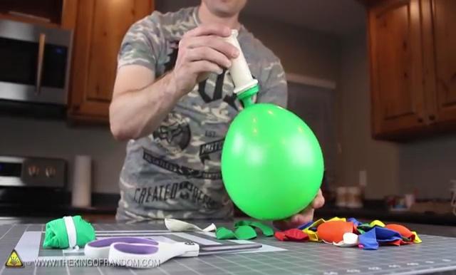 DIY How to make Parachute flying Sky balls (9)