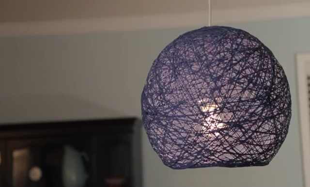 DIY Lampshade: How to make Yarn Globe Lanterns, String Lights - Diy Craft Ideas & Gardening