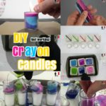 DIY Candle Craft Ideas: How to Make Colorful layered Crayon Candles
