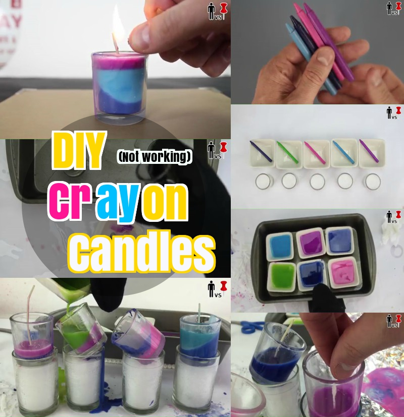 DIY How to make colorful crayon candles
