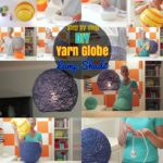DIY Lampshade: How to make Yarn Globe Lanterns, String Lights