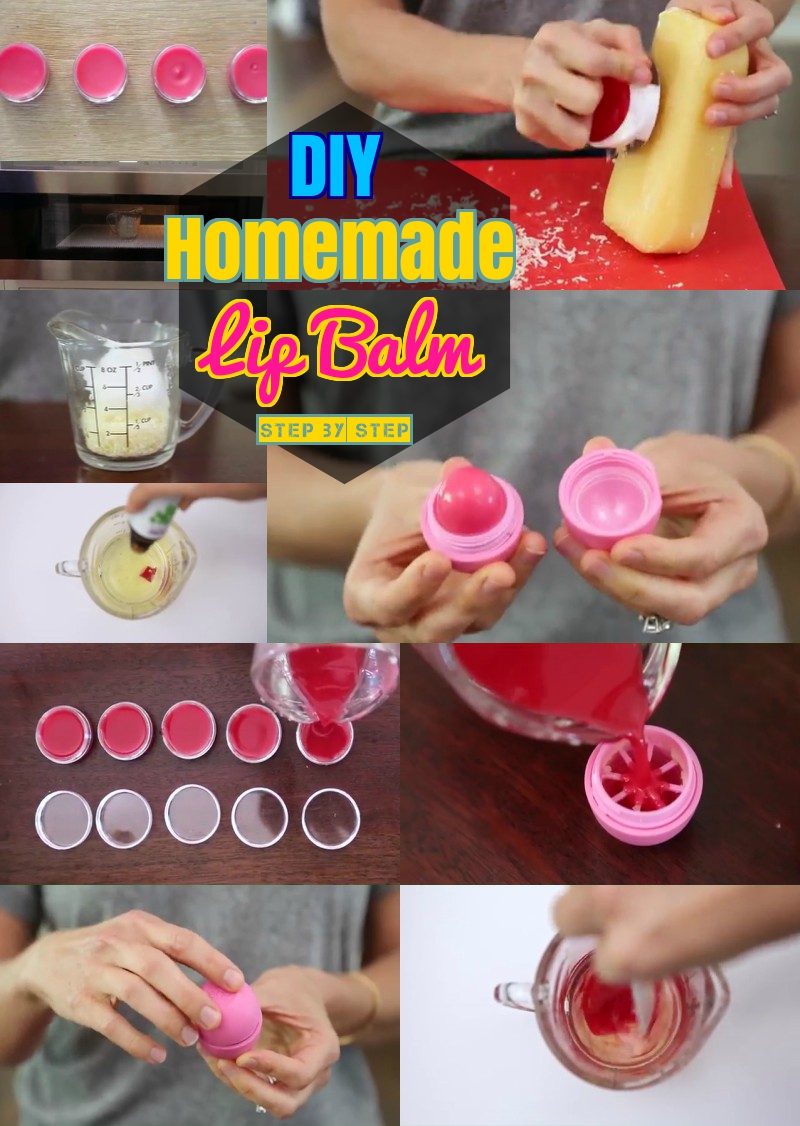 DIY Lip balm step step instructions