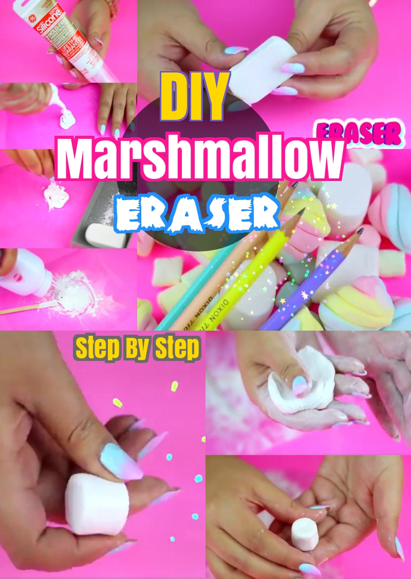 DIY Marshmallow Eraser Back to school Craft