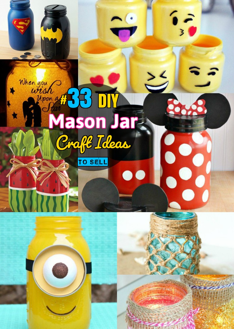 Diy mason jar crafts 33 mason jar craft ideas even you for Diy project ideas to sell