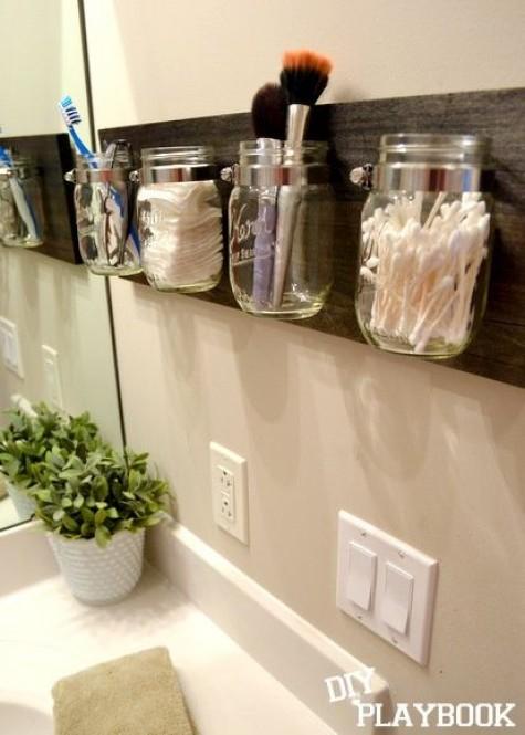 Diy Bathroom Storage And Organization With Mason Jars
