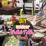 DIY Outdoor Table: #2 How to Build Pallet Outdoor Table & Backyard Bench