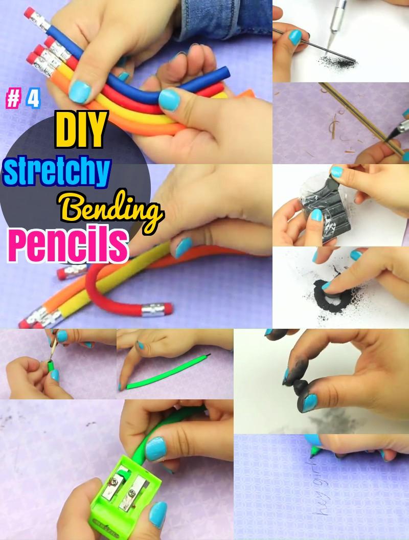 DIY Stretchy Bending Pencils