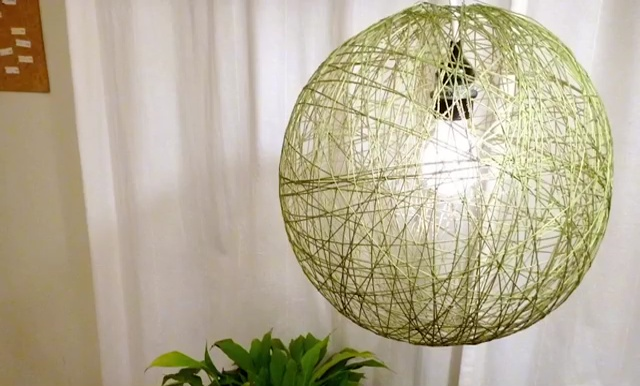 DIY String lights how to make pendant string decor light (1)