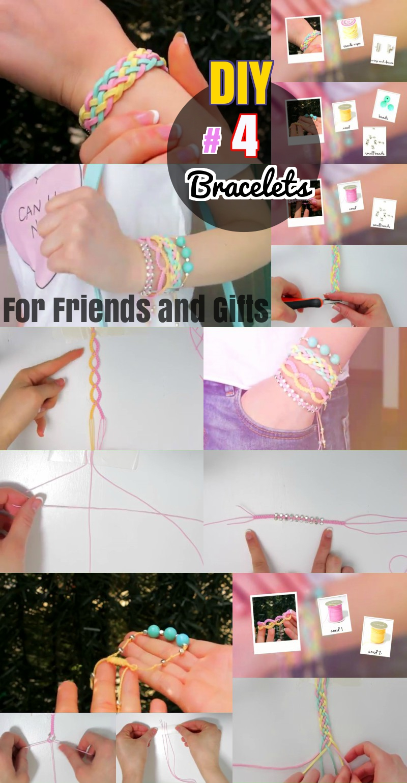DIY bracelet craft ideas for gift and friends