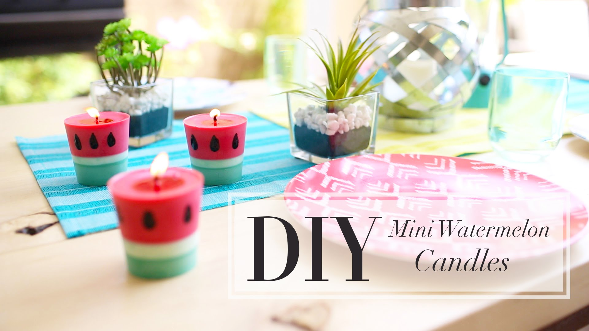 DIY how to Make a Watermelon Candle step by step