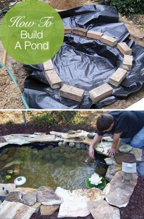Diy water garden ideas 54 pond garden ideas and design for Diy pond liner ideas